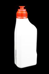 White bottle of oil for the car