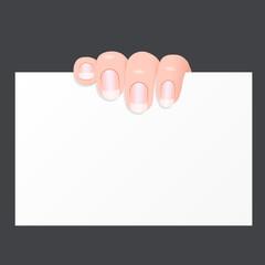 Finger am Plakat