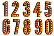 Numbers Set - clipping path included for each letter