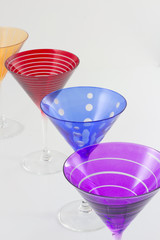 Colorful Martini Glasses