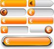Euro high-detailed web button collection.