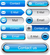Mail high-detailed web button collection.