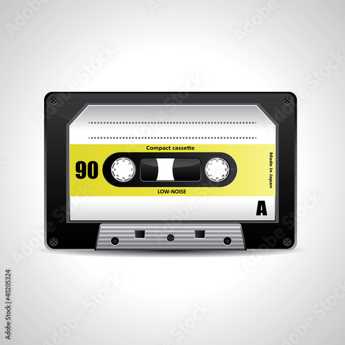 Vector retro cassette tape