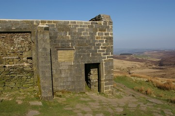 Ruin associated with the Earnshaw home in Wuthering Heights