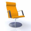 3D Designer Chefsessel Silber Orange