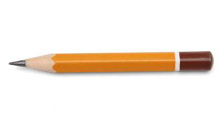 Regular pencil over white background