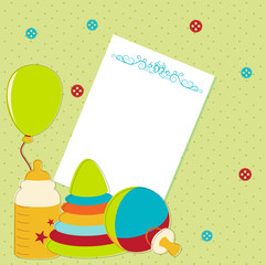 Card with baby element