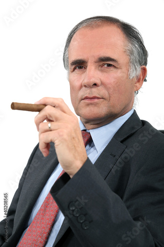 Executive with a cigar