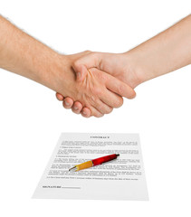 Handshake and contract
