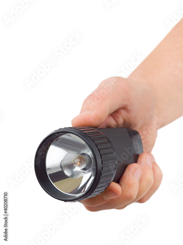 Flashlight in hand
