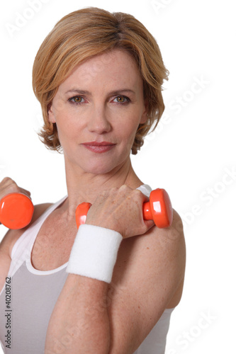 Woman with weights