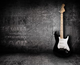 Fototapety Electric guitar and the wall