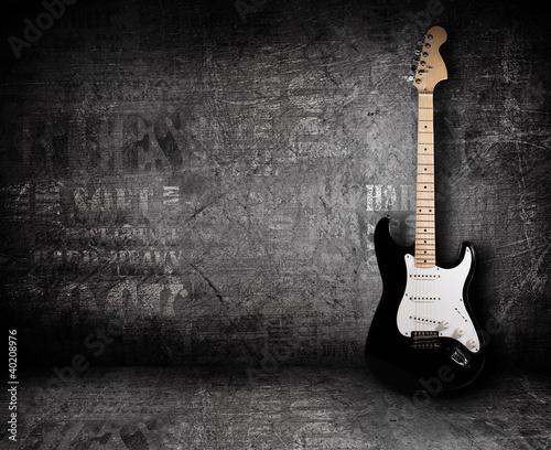 Gitara elektryczna i ściana