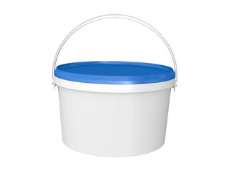 bucket with paint.