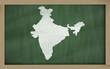 outline map of india on blackboard