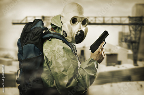Doomsday. Man with gun