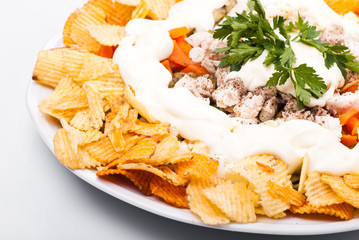 Salad with chips