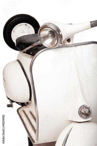 Old white motorcycle