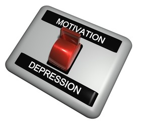 3D Schalter - MOTIVATION - DEPRESSION