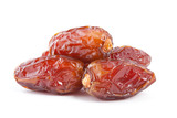 Date fruit isolated on white background.