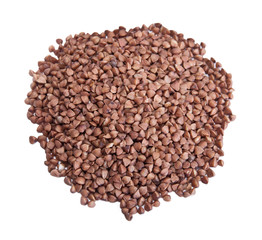Buckwheat seeds closeup