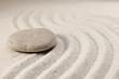 caillou sur le sable méditation