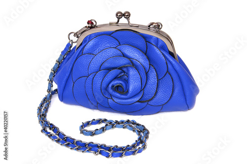 small blue rose clutch