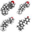Vitamin D3 (cholecalciferol) molecule