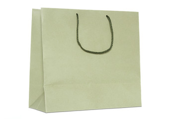 brown shopping bag isolated on white background