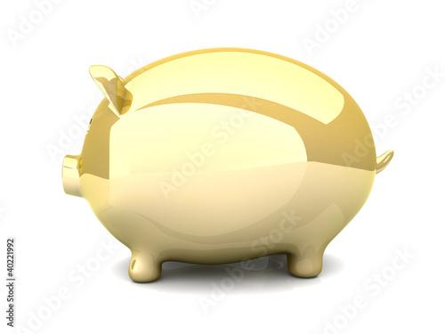 Goldenes Sparschwein