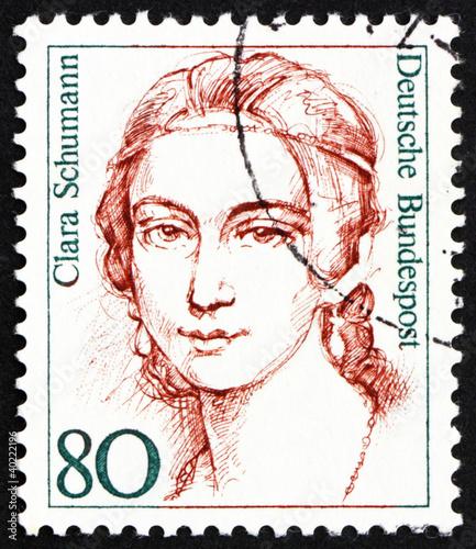 Postage stamp Germany 1986 Clara Schumann, Pianist, Composer