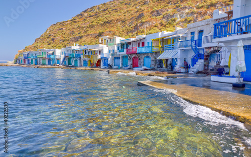Klima fishing village, Milos island, Cyclades, Greece