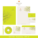 Corporate Identity. Natural Vector Business Template
