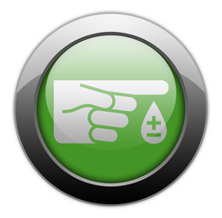 "Green Metallic Orb Button ""Diabetes"""