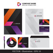 Corporate Identity. Template for Business artworks. Vector