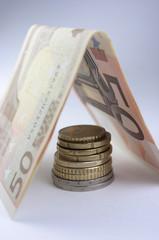 Billete y monedas de euro