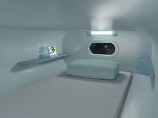 bedroom on the spaceship