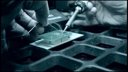 soldering on a board