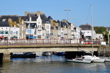 Town and port of Le Croisic in France
