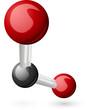 CO2 Carbon Dioxide molecule
