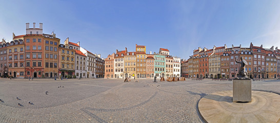 Warsaw Old Town, Stitched Panorama