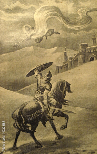 Vintage illustration from the ancient book