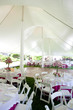 Inside a wedding tent