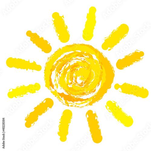 Sun drawn