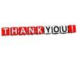 3D Thank You Cube text