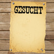 Plakat - GESUCHT