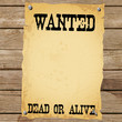 Plakat - WANTED DEAD OR ALIVE