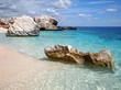 Rocky beach in Sardinia