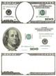 set of original detail dollars isolated on white background