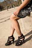 jambes et chaussures à talons poster